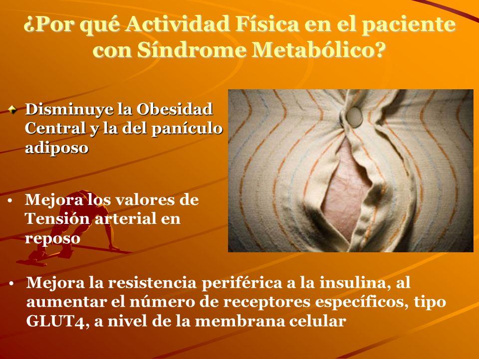 ¿Por qué Actividad Física en el paciente con Síndrome Metabólico