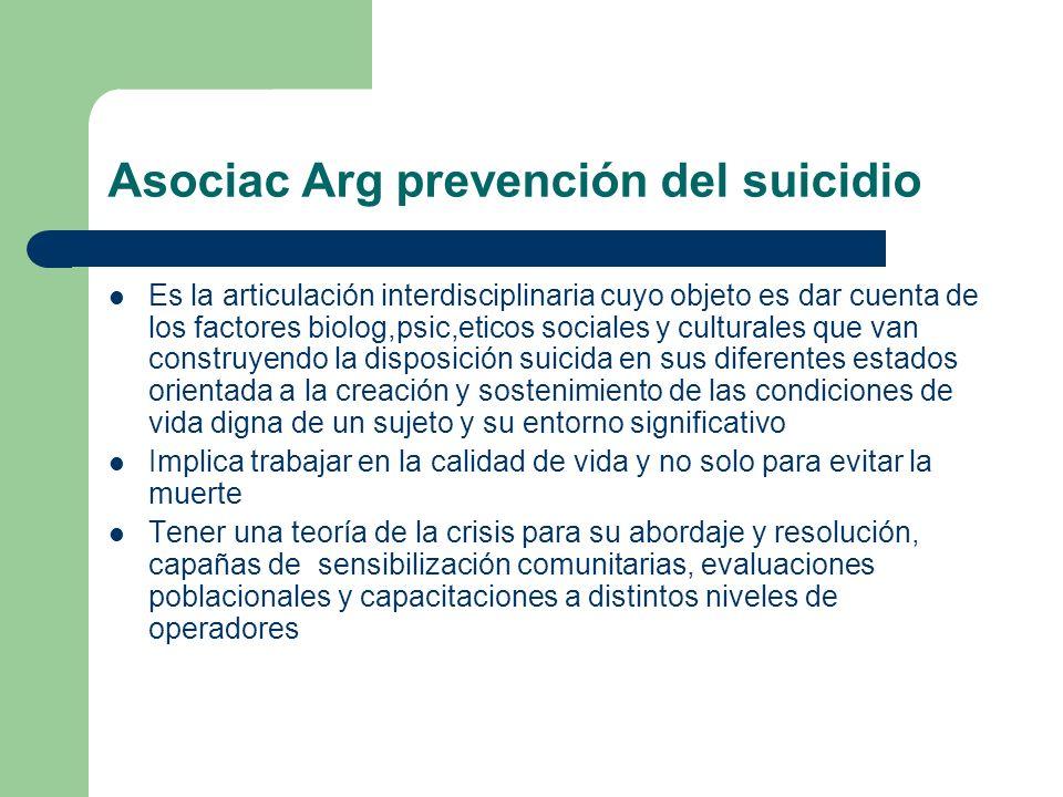 Asociac Arg prevención del suicidio