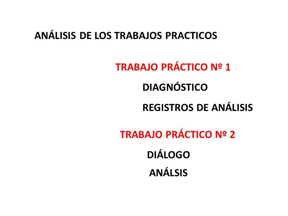 ANÁLISIS DE LOS TRABAJOS PRACTICOS