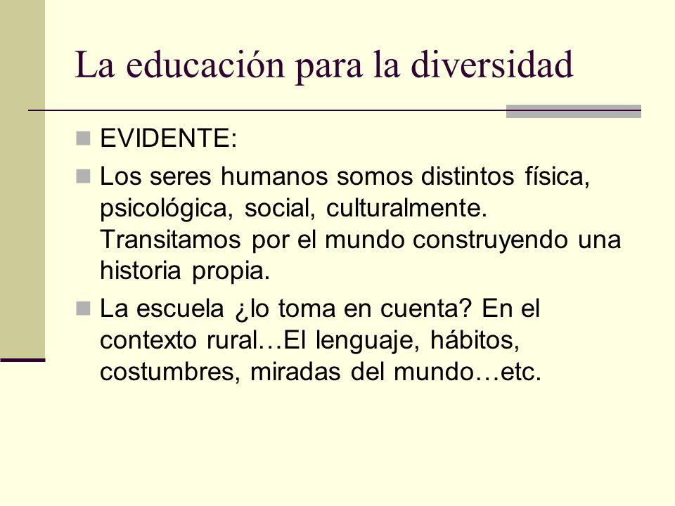La educación para la diversidad
