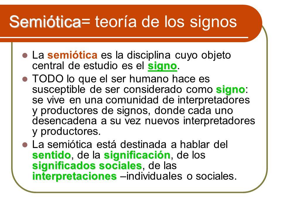 Semiótica= teoría de los signos