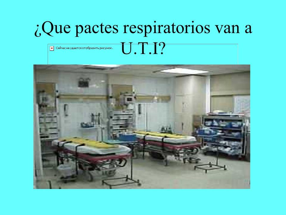¿Que pactes respiratorios van a U.T.I