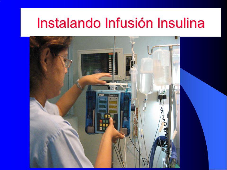 Instalando Infusión Insulina