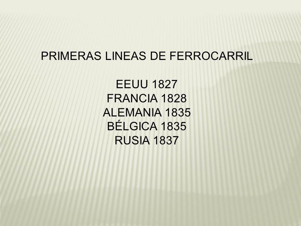 PRIMERAS LINEAS DE FERROCARRIL