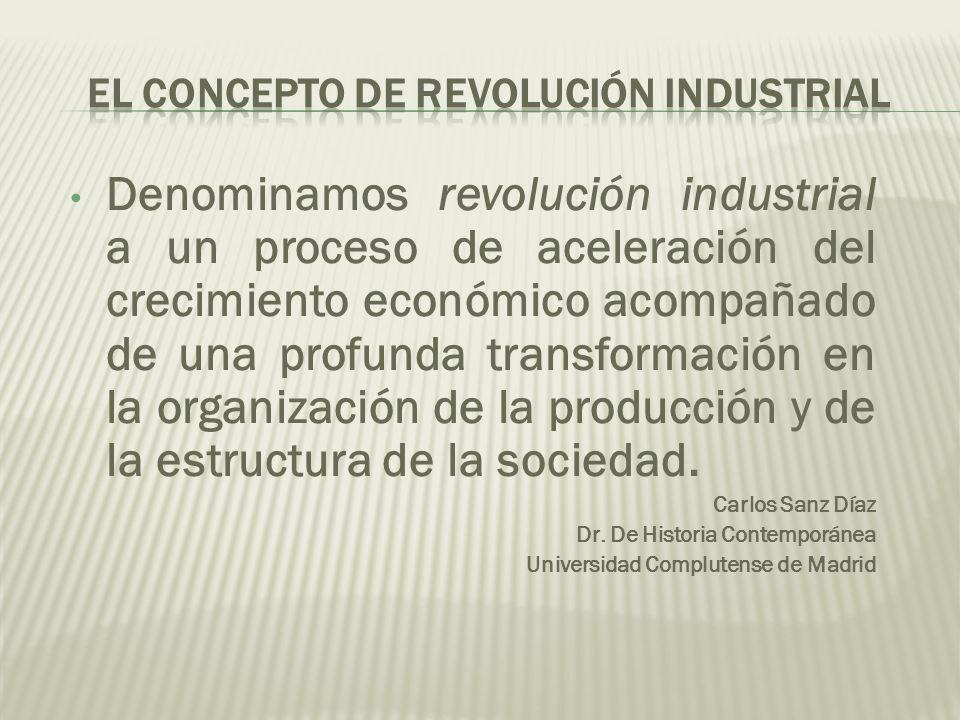 El concepto de revolución industrial