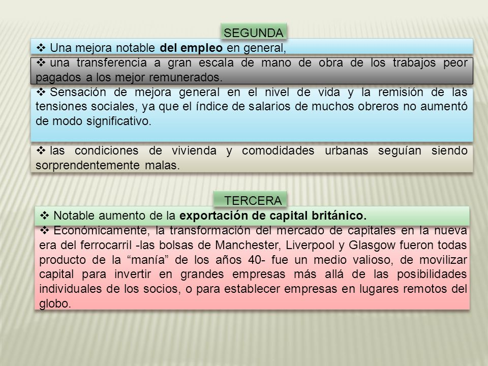 SEGUNDA Una mejora notable del empleo en general,