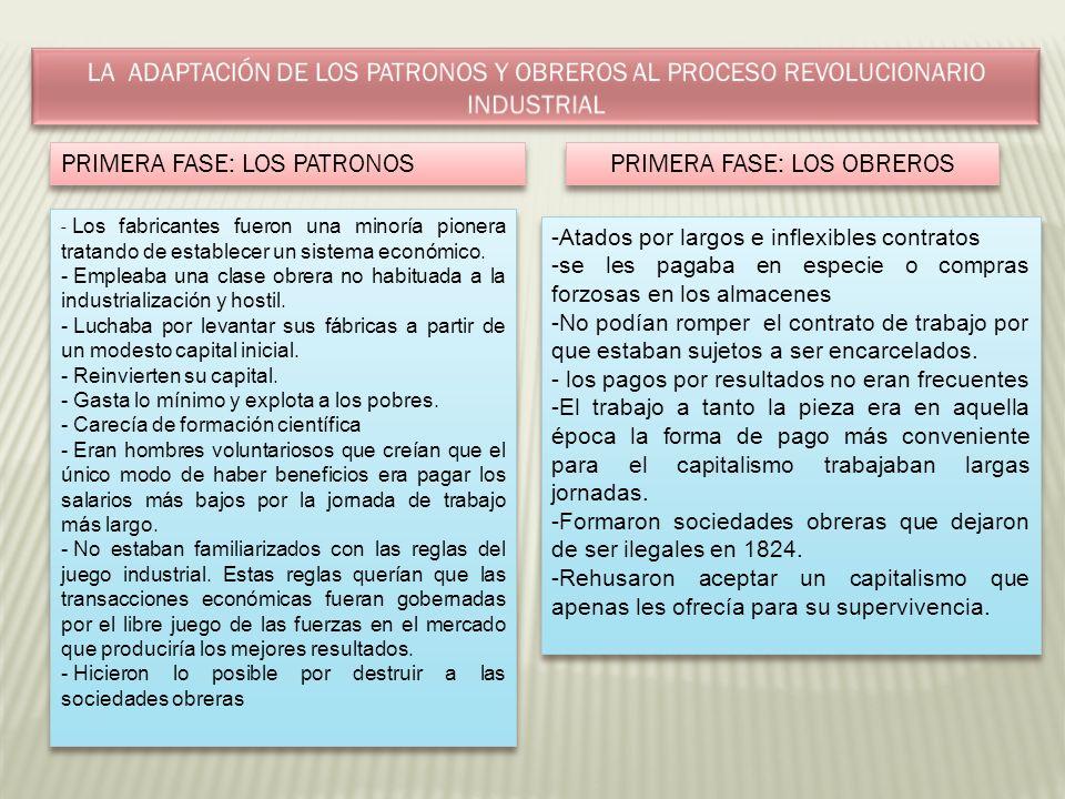 PRIMERA FASE: LOS OBREROS