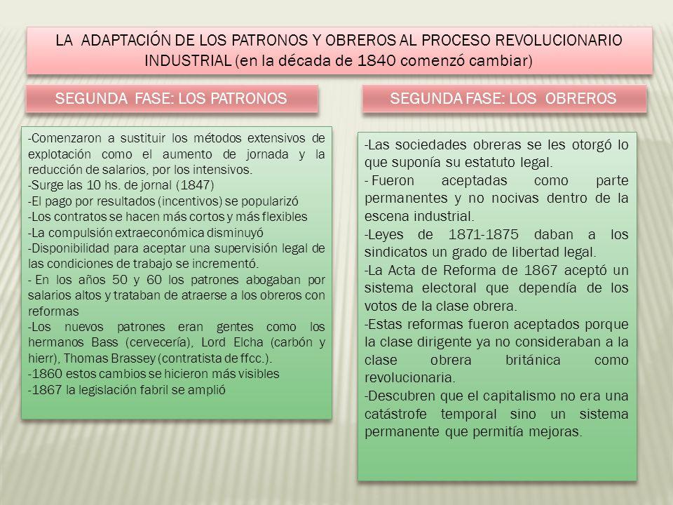 SEGUNDA FASE: LOS PATRONOS SEGUNDA FASE: LOS OBREROS