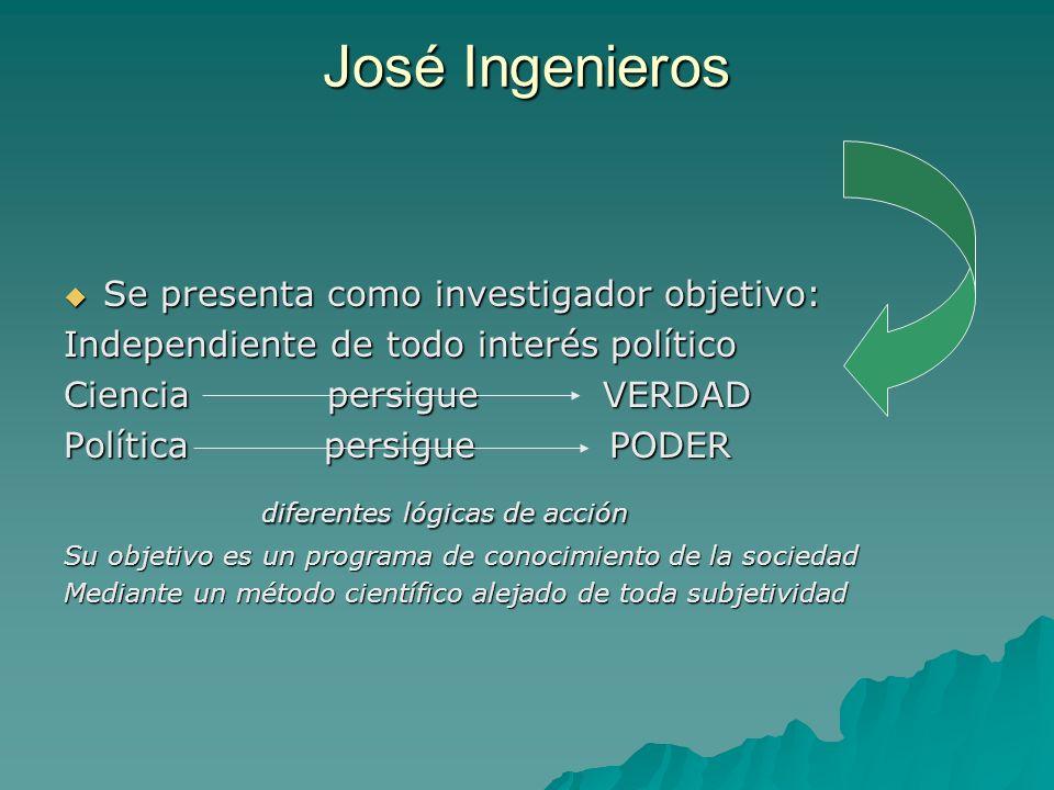 José Ingenieros diferentes lógicas de acción