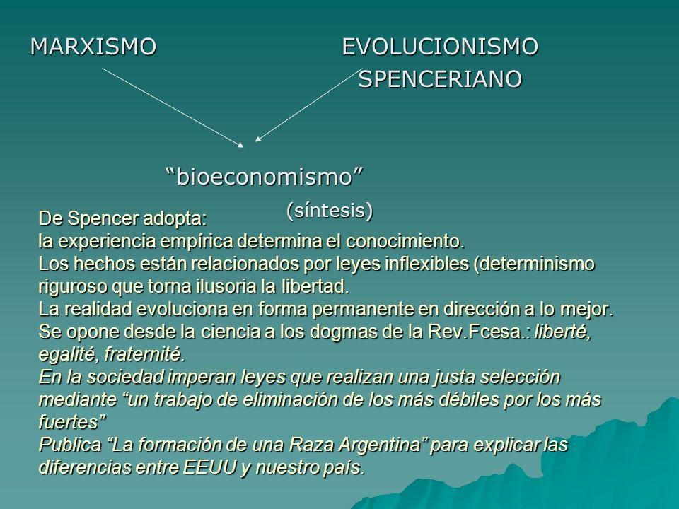 MARXISMO EVOLUCIONISMO SPENCERIANO