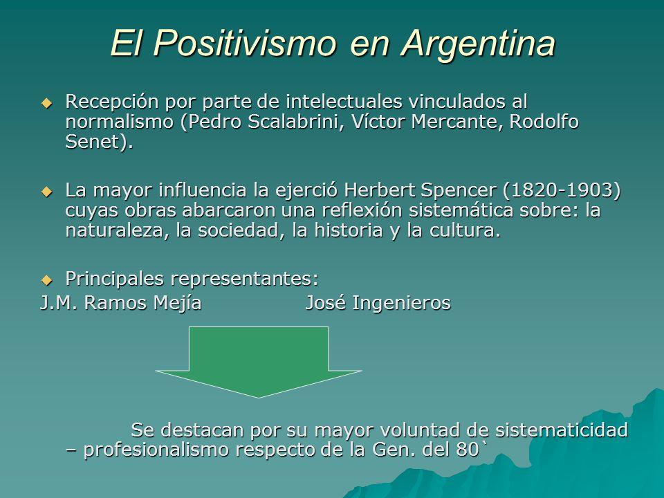 El Positivismo en Argentina