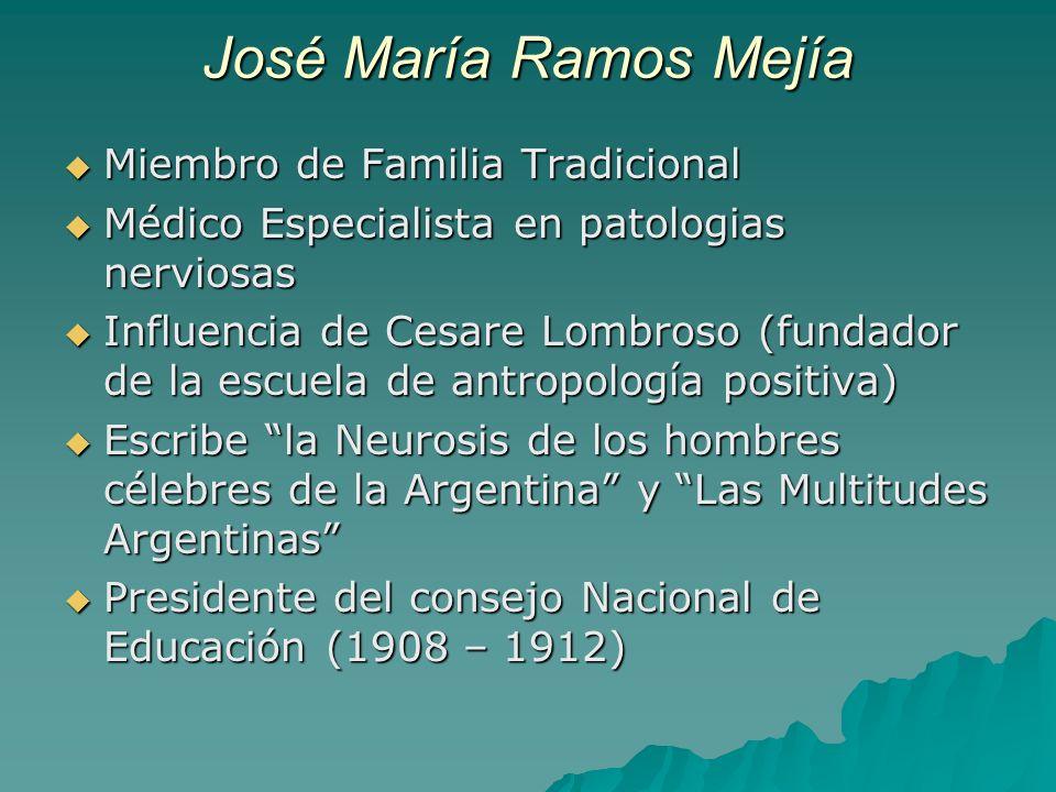 José María Ramos Mejía Miembro de Familia Tradicional