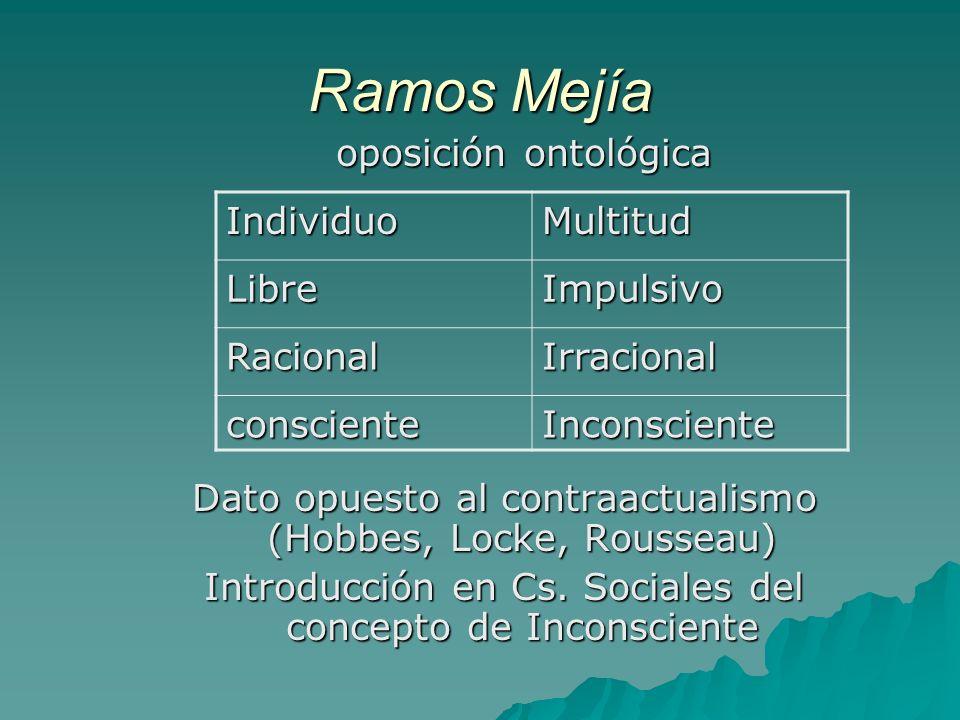Ramos Mejía oposición ontológica