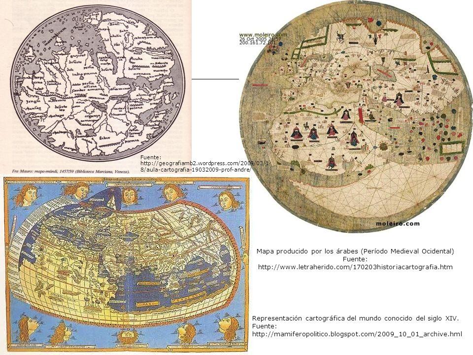 Mapa producido por los árabes (Período Medieval Ocidental)