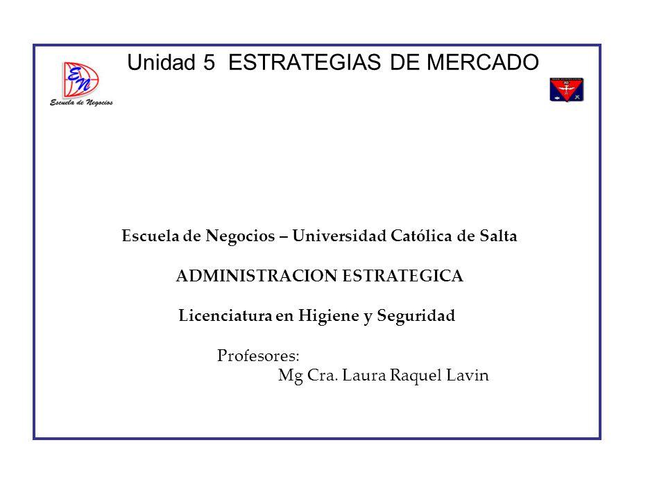 Unidad 5 ESTRATEGIAS DE MERCADO