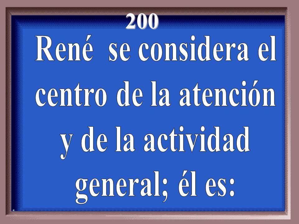 200 René se considera el centro de la atención y de la actividad