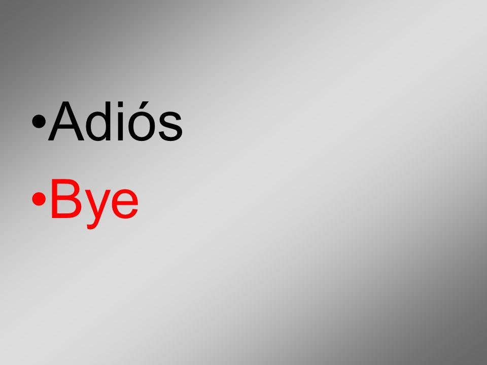 Adiós Bye