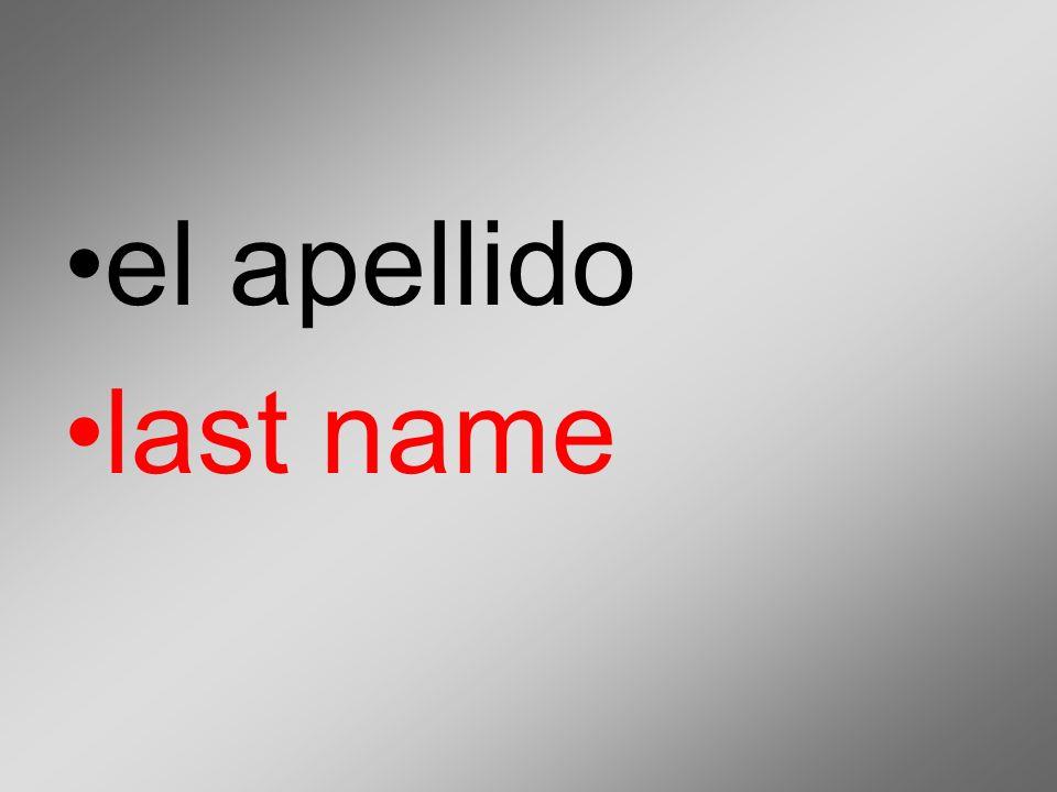 el apellido last name