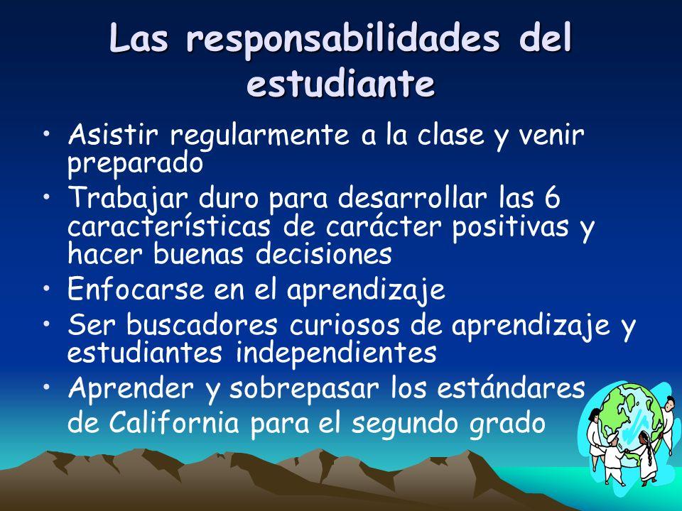 Las responsabilidades del estudiante