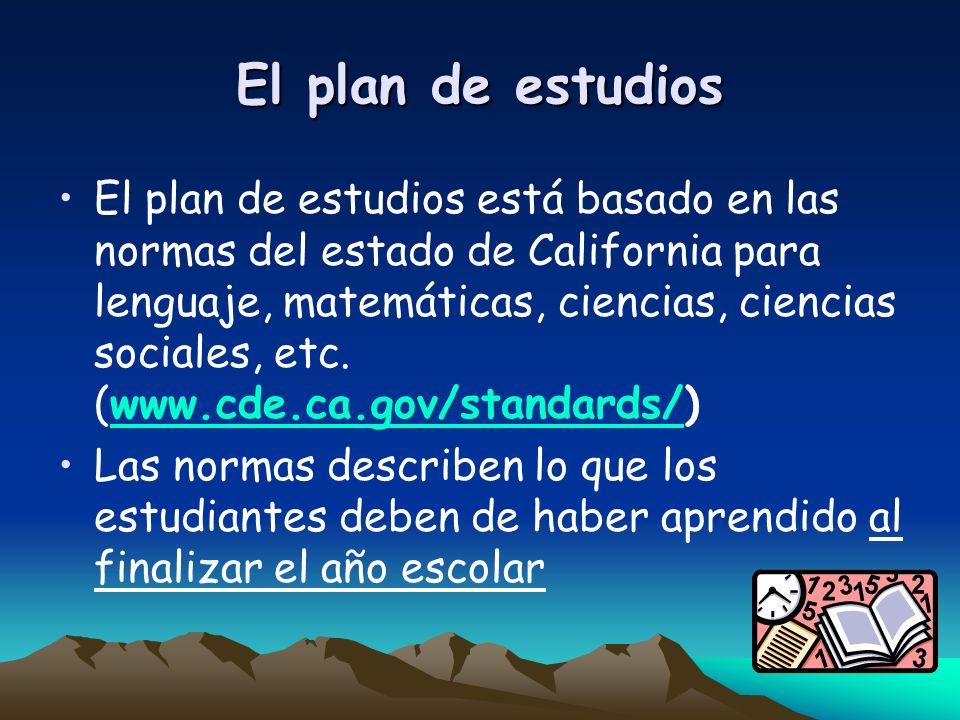 El plan de estudios