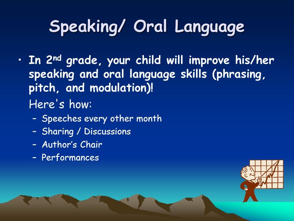 Speaking/ Oral Language