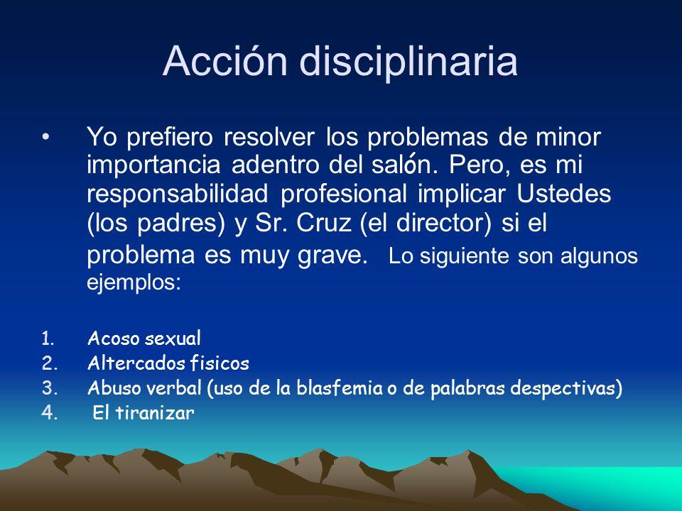 Acción disciplinaria