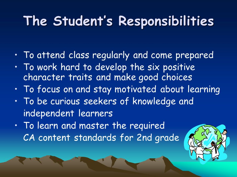 The Student's Responsibilities