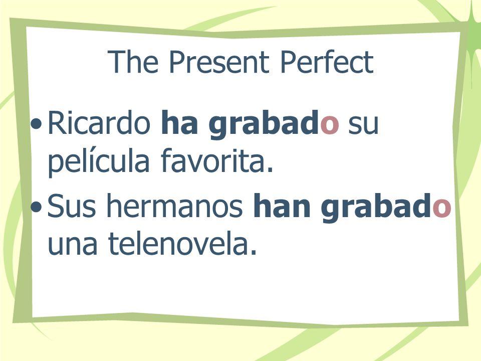 Ricardo ha grabado su película favorita.