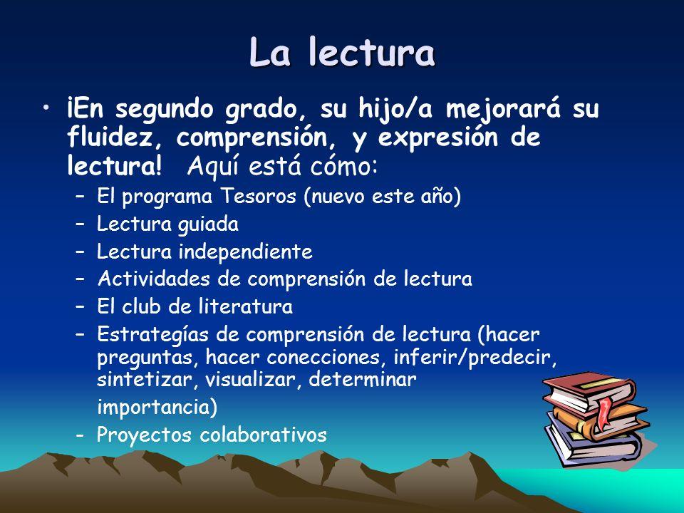 La lectura ¡En segundo grado, su hijo/a mejorará su fluidez, comprensión, y expresión de lectura! Aquí está cómo: