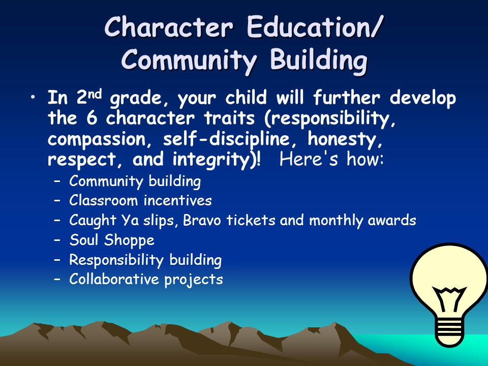 Character Education/ Community Building