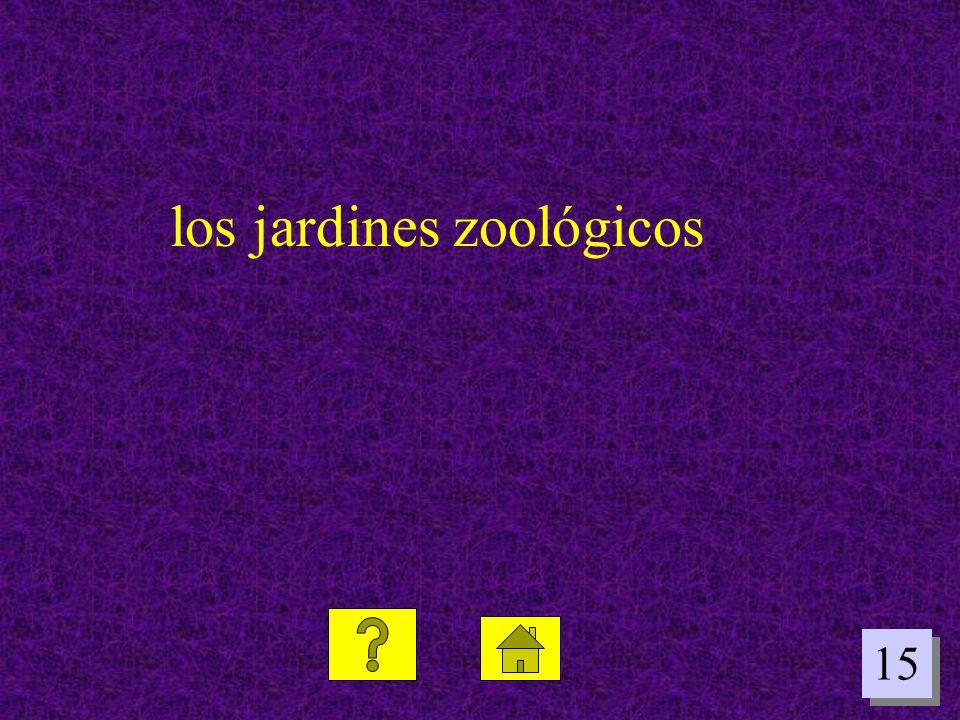 los jardines zoológicos
