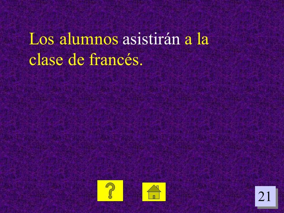 Los alumnos asistirán a la clase de francés.