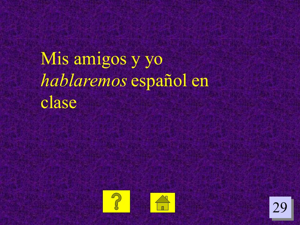 Mis amigos y yo hablaremos español en clase