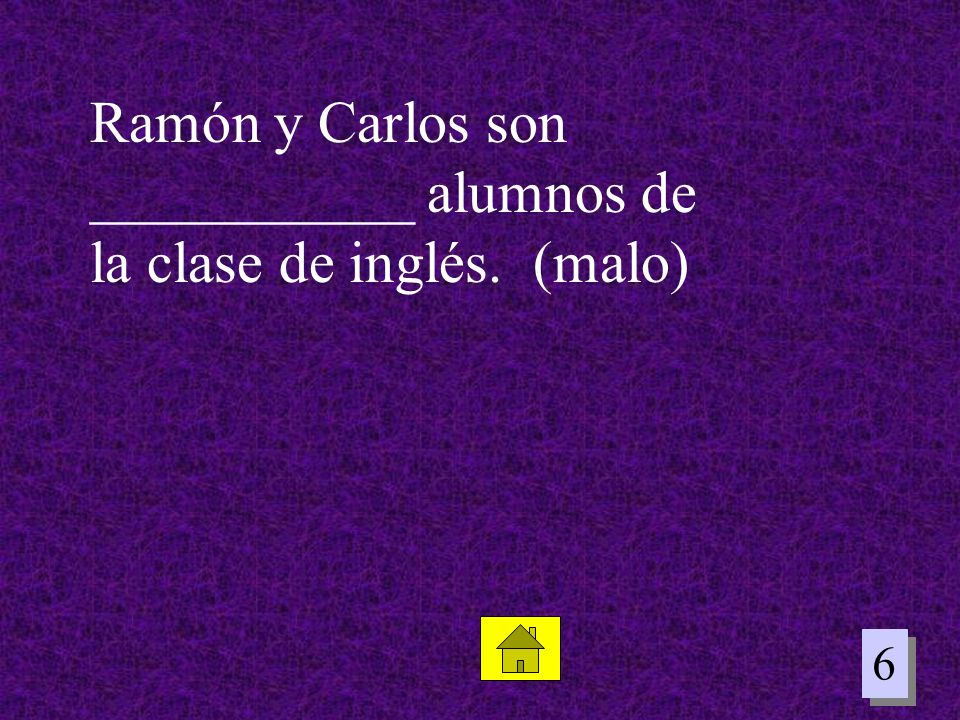 Ramón y Carlos son ___________ alumnos de la clase de inglés. (malo)