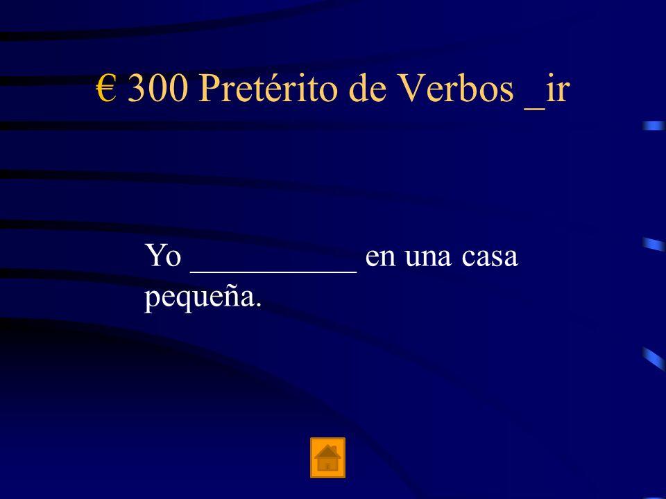 € 300 Pretérito de Verbos _ir