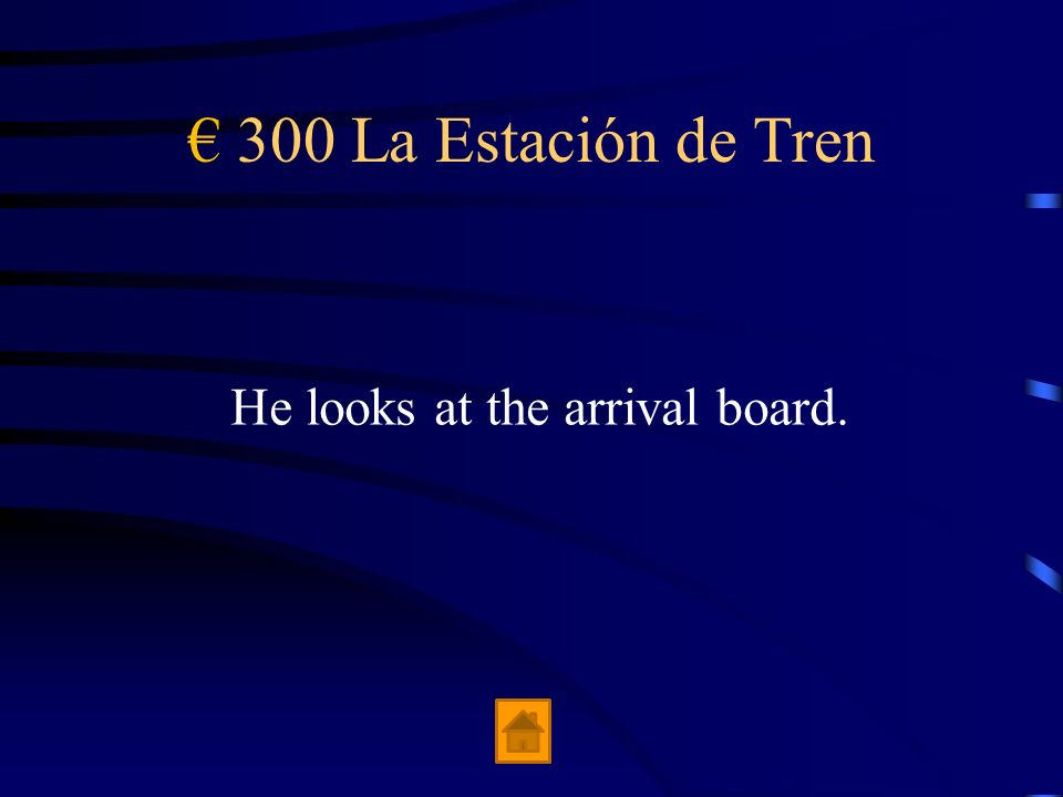 € 300 La Estación de Tren He looks at the arrival board.