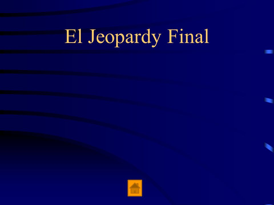 El Jeopardy Final