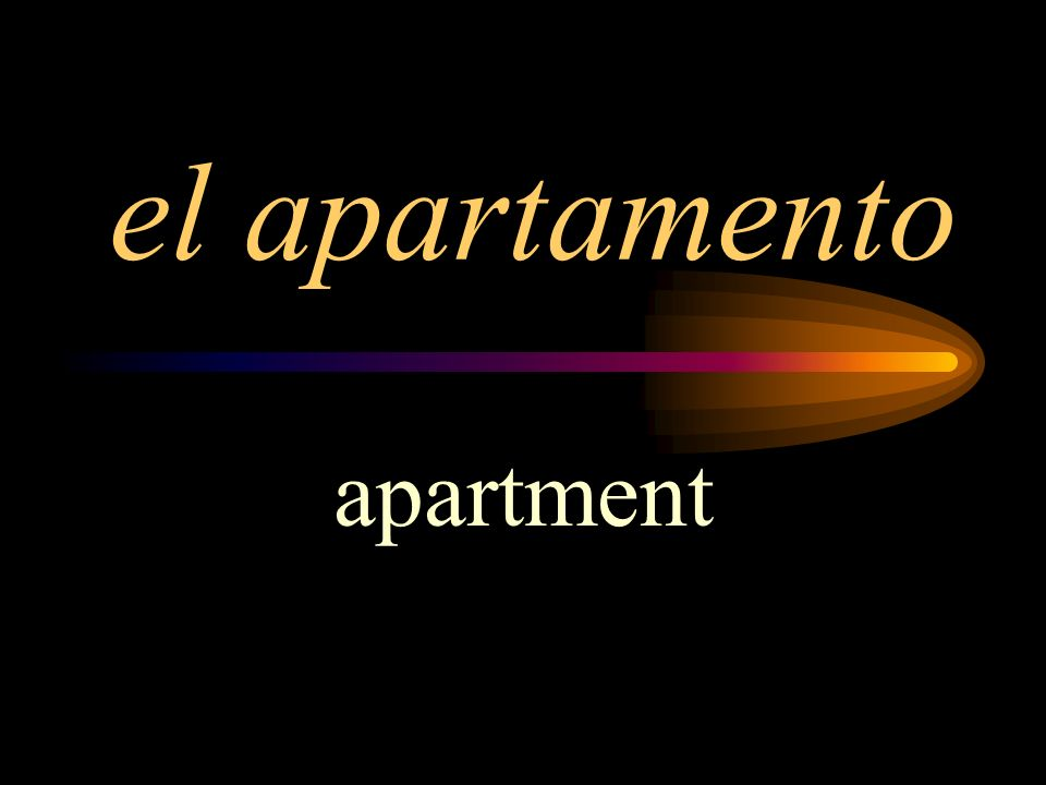 el apartamento apartment