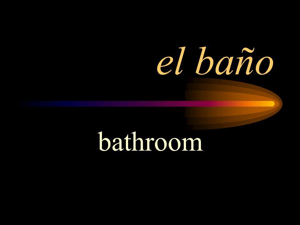 el baño bathroom