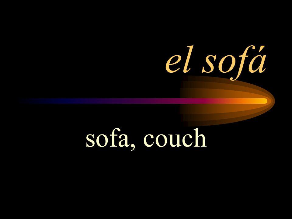 el sofá sofa, couch