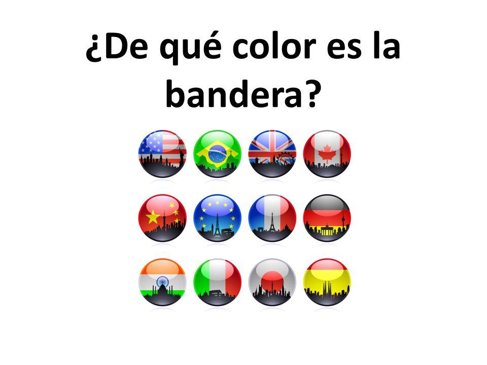 ¿De qué color es la bandera