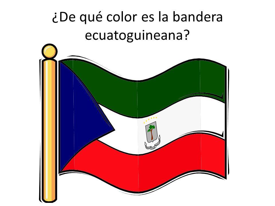 ¿De qué color es la bandera ecuatoguineana