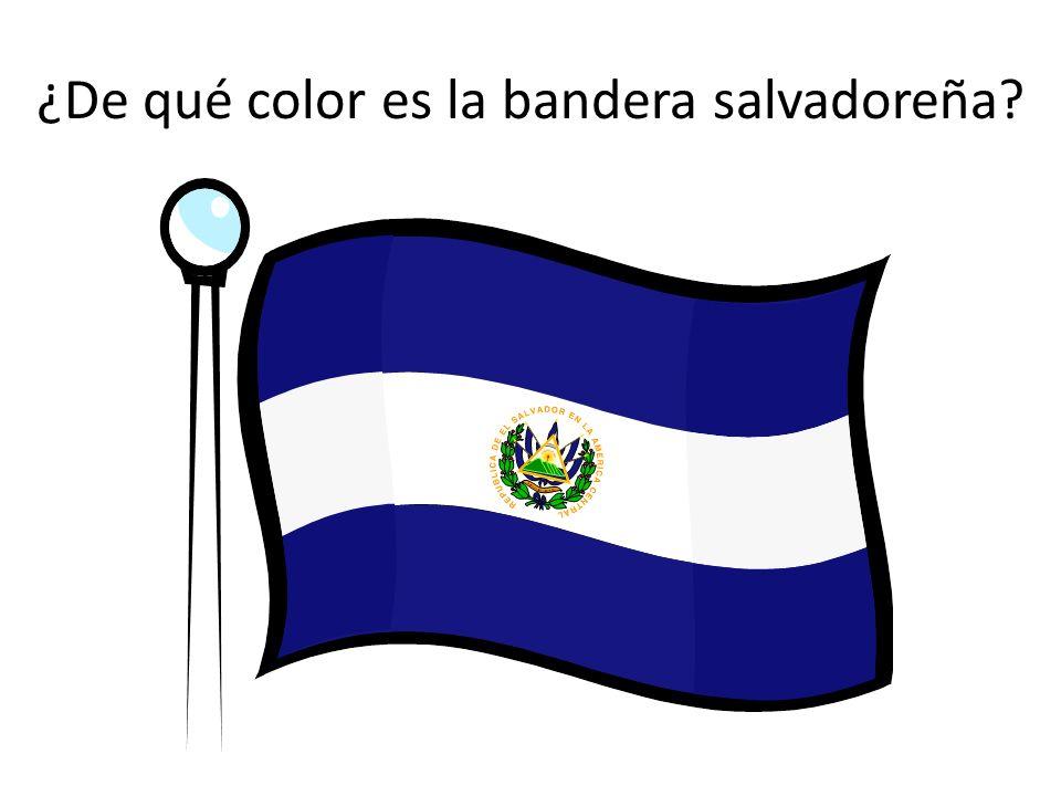 ¿De qué color es la bandera salvadoreña