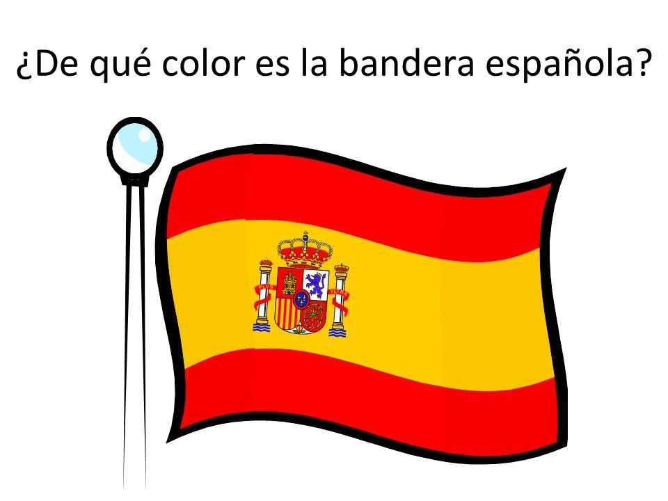 ¿De qué color es la bandera española