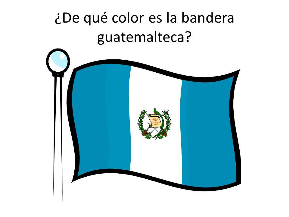 ¿De qué color es la bandera guatemalteca