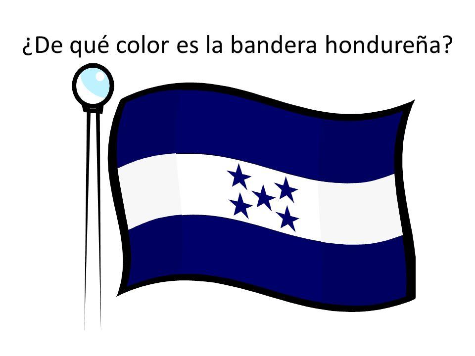 ¿De qué color es la bandera hondureña