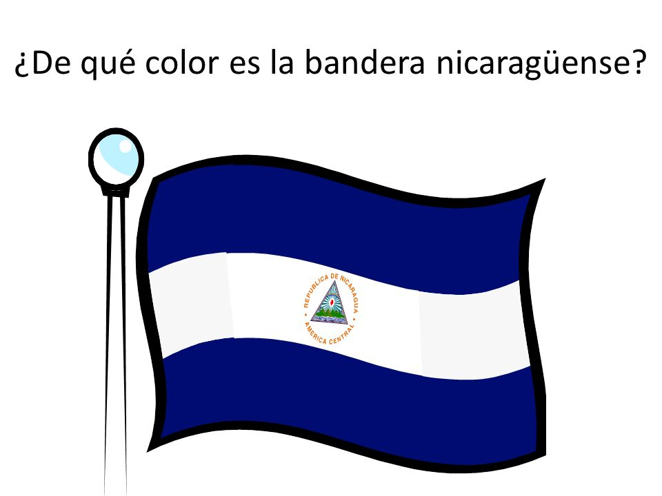 ¿De qué color es la bandera nicaragüense