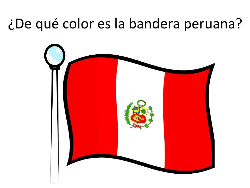 ¿De qué color es la bandera peruana