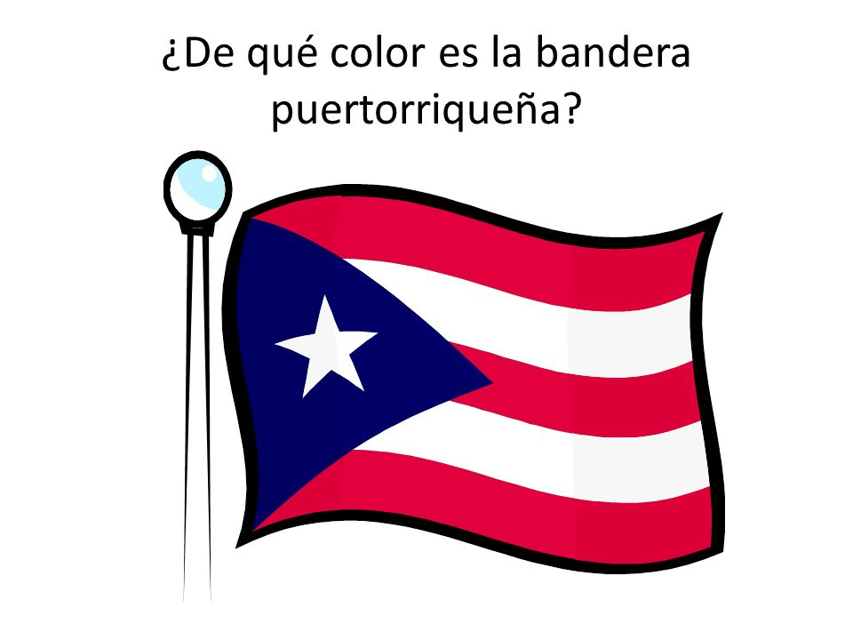¿De qué color es la bandera puertorriqueña