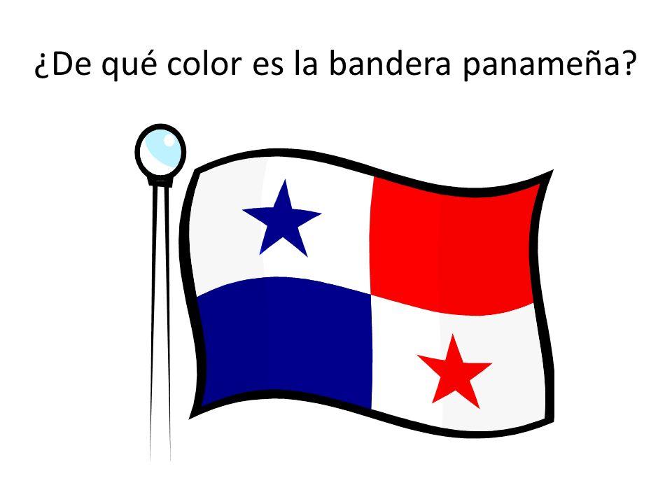 ¿De qué color es la bandera panameña